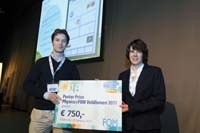 Poster Award for Willem Haverkort at Physics@FOM congress