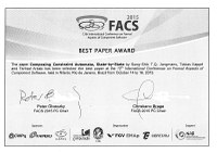 FACS Best Paper Award for Formal Methods researchers
