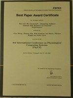Best Paper Award for DIS researchers at PhyCS 2016