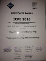 Best Paper Award for SWAT researchers at ICPE2016