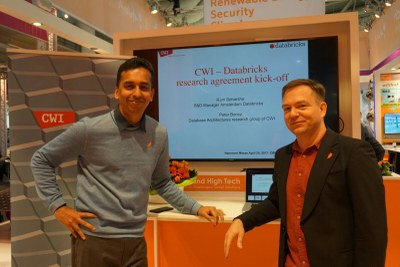 Ram Sriharsha (left) and Peter Boncz (right) launched the new collaboration.