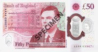 New fifty pound British banknote honours computer pioneer Alan Turing