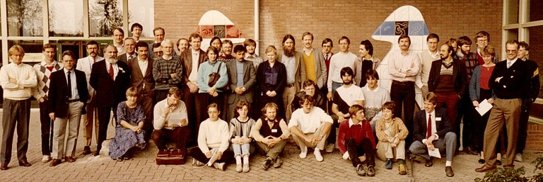 Crypto-Course organized by David Chaum at CWI in Amsterdam, around 1986.