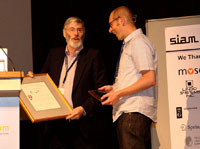 SIAG/OPT Prize awarded to F. Vallentin by Mike Todd (SIAM)