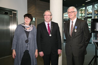 Mr. and Mrs. Verwer with Mayor Romeyn