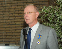 Jan Karel Lenstra with royal decoration